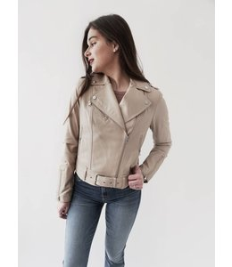 SOIA & KYO KELSY LEATHER JACKET -