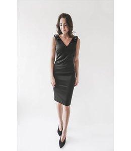 TED BAKER BELLIAH BOW DRESS - BLACK