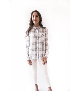 RAILS HUNTER LS - WHITE COAST BLUSH