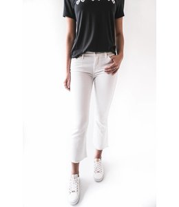 7 FOR ALL MANKIND CROPPED BOOT - 95S - WHITE