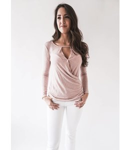 VELVET BRIDA - KNIT TOP PINK -