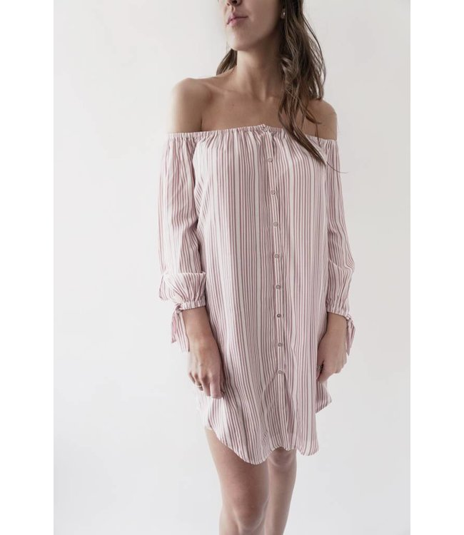 GENTLE FAWN ANASTASIA DRESS - 8310 - ROSE PINSTRIPE