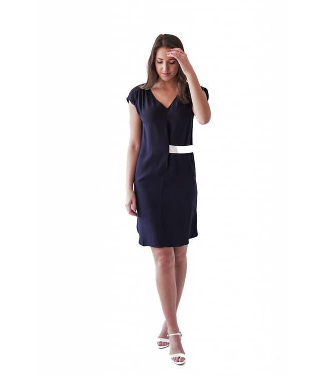 BELTED TUNIC - 351 - NAVY