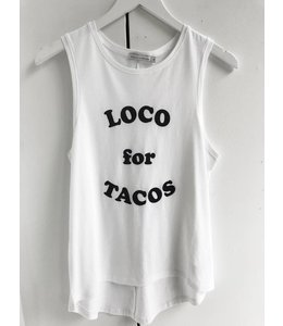 SOUTH PARADE WHITNEY TANK - TACOS - WHITE