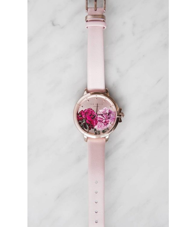 TED BAKER FLORAL WATCH - 7011 - PINK