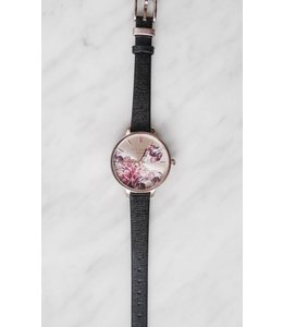 TED BAKER FLOWER WATCH - 5005 - BLACK -
