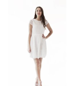 FRENCH CONNECTION PARKER LACE DRESS - JDM - WHITE