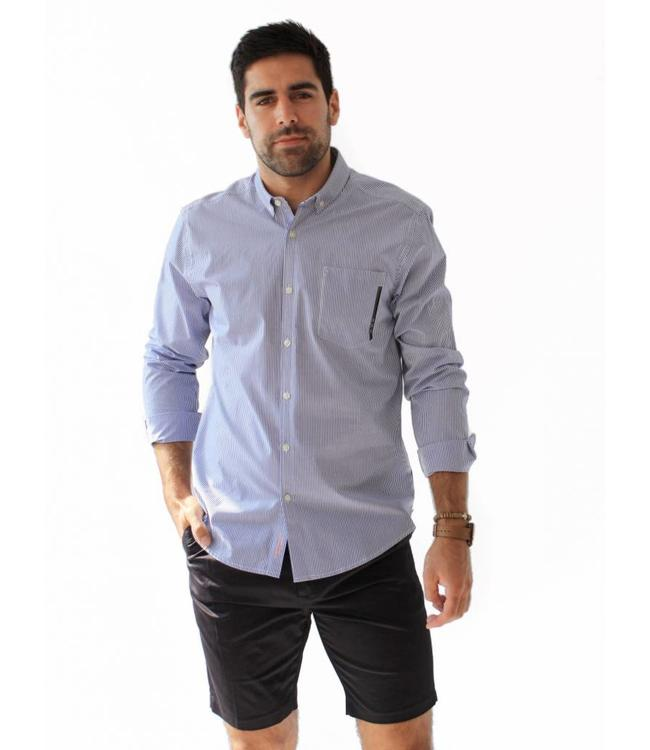 SCOTCH AND SODA STRIPE SHIRT - 154 - BLUE