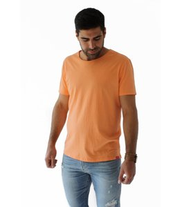 SCOTCH AND SODA SUMMER CREWNECK TEE - ORANGE - 656 -