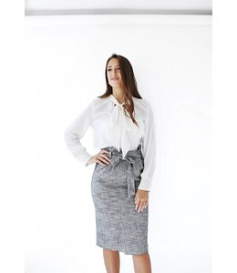 SET PLAID SKIRT - 068 - GREY