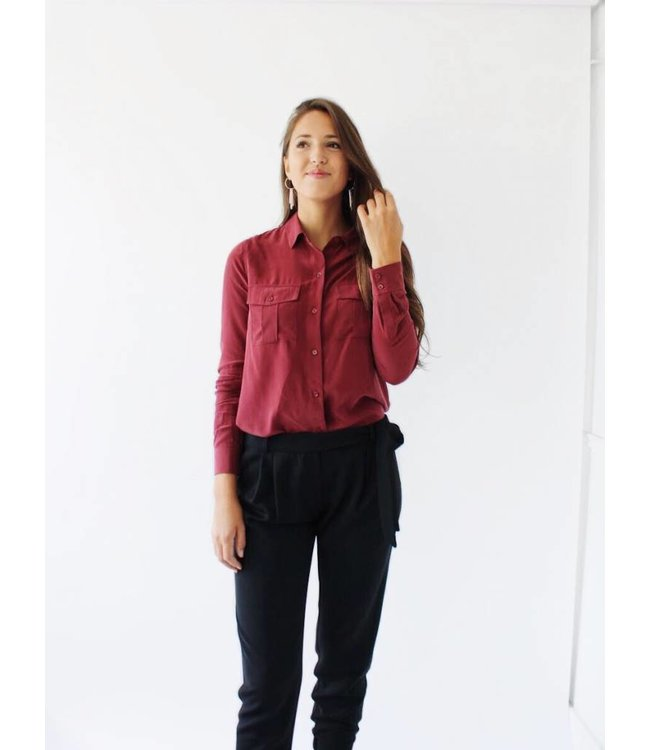 RAILS RHETT SHIRT - 508 - MERLOT