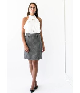 JUDITH & CHARLES RICHLER SKIRT - 2312 - GREY CHECK