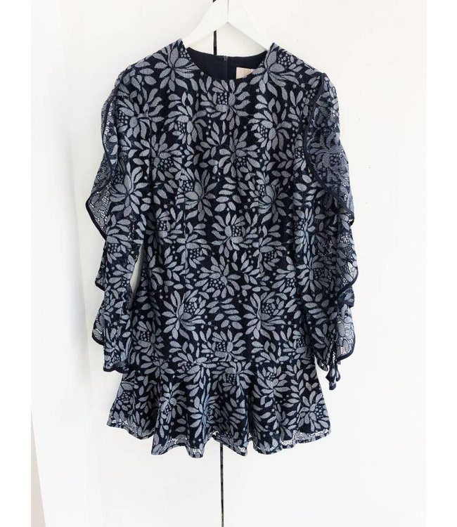 ENGAGE LACE DRESS - 737 - NAVY