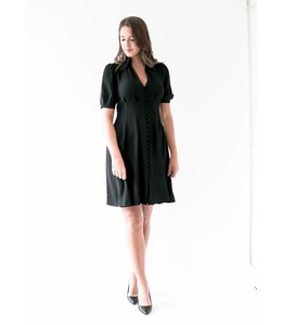 MICHAEL KORS WAIST SHIRT DRESS - 6BZ - BLACK