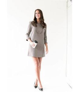 SUNCOO CHARLENE DRESS - 275 - BOURGOGNE