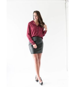 HEARTLOOM BENNY TOP - H5S - BURGUNDY