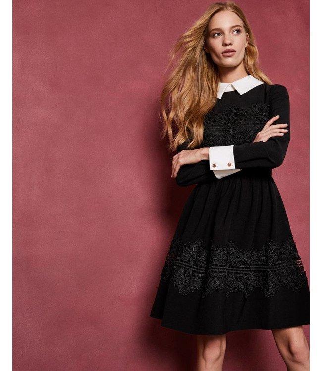 TED BAKER HAEDEN DRESS - 479 - BLACK
