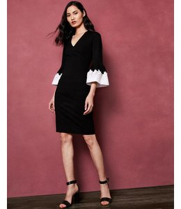 TED BAKER RASTREL DRESS - 597 - BLACK