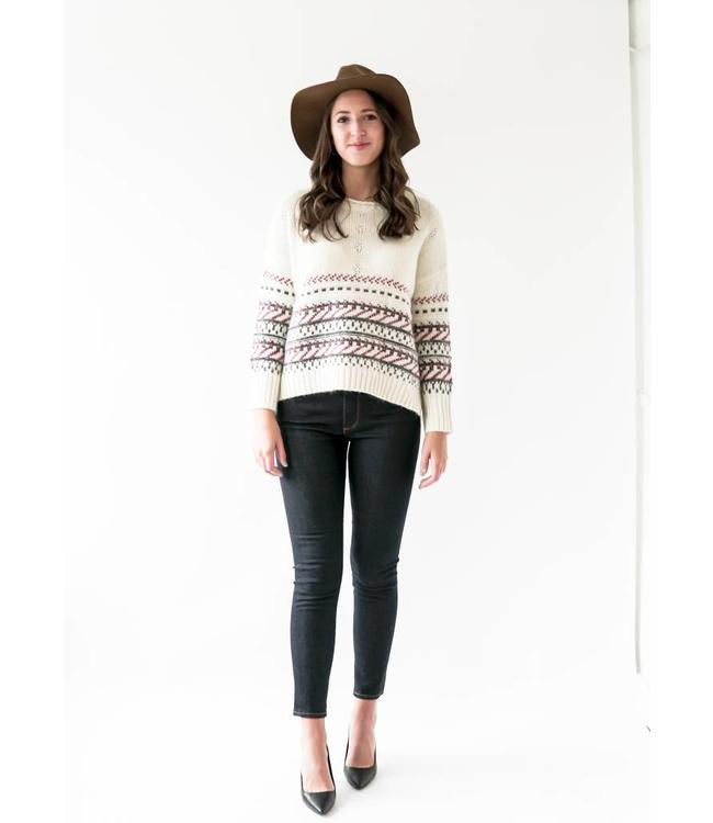 SUNCOO PAQUITA SWEATER - 182 - OFF WHITE
