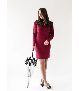 MICHAEL KORS TURTLENECK DRESS - 0WP - MAROON