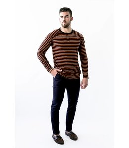 SCOTCH AND SODA STRIPE LS - 497 - ORANGE