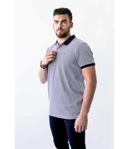 SCOTCH AND SODA STRIPE POLO - 547 - NAVY