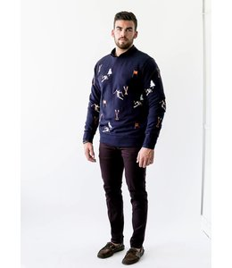 SCOTCH AND SODA CREWNECK SKI EMB - 462 - NAVY
