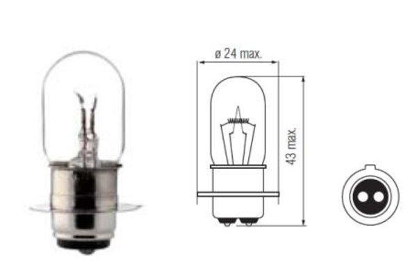 Lamp 6V. 20/20W. PX15D
