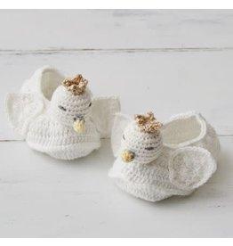 ALBETTA Crochet Swan Booties