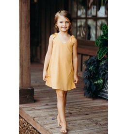 ELIZABETH CATE Bow Shoulder Dress