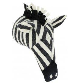 FIONA WALKER OF LONDON Large Stripe Print Zebra Head