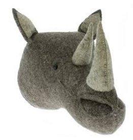 FIONA WALKER OF LONDON Large Rhino Head - Grey & Silver
