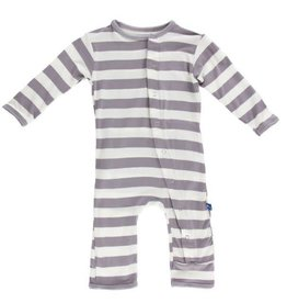 KICKEE PANTS Feather Contrast Stripe Coverall