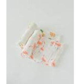 LITTLE UNICORN Deluxe Muslin Swaddle 2 Pack - Pink Ladies