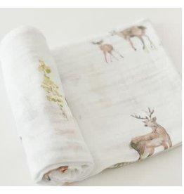 LITTLE UNICORN Cotton Muslin Swaddle - Oh Deer