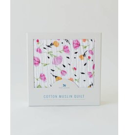 LITTLE UNICORN Cotton Muslin Quilt - Berry & Bloom