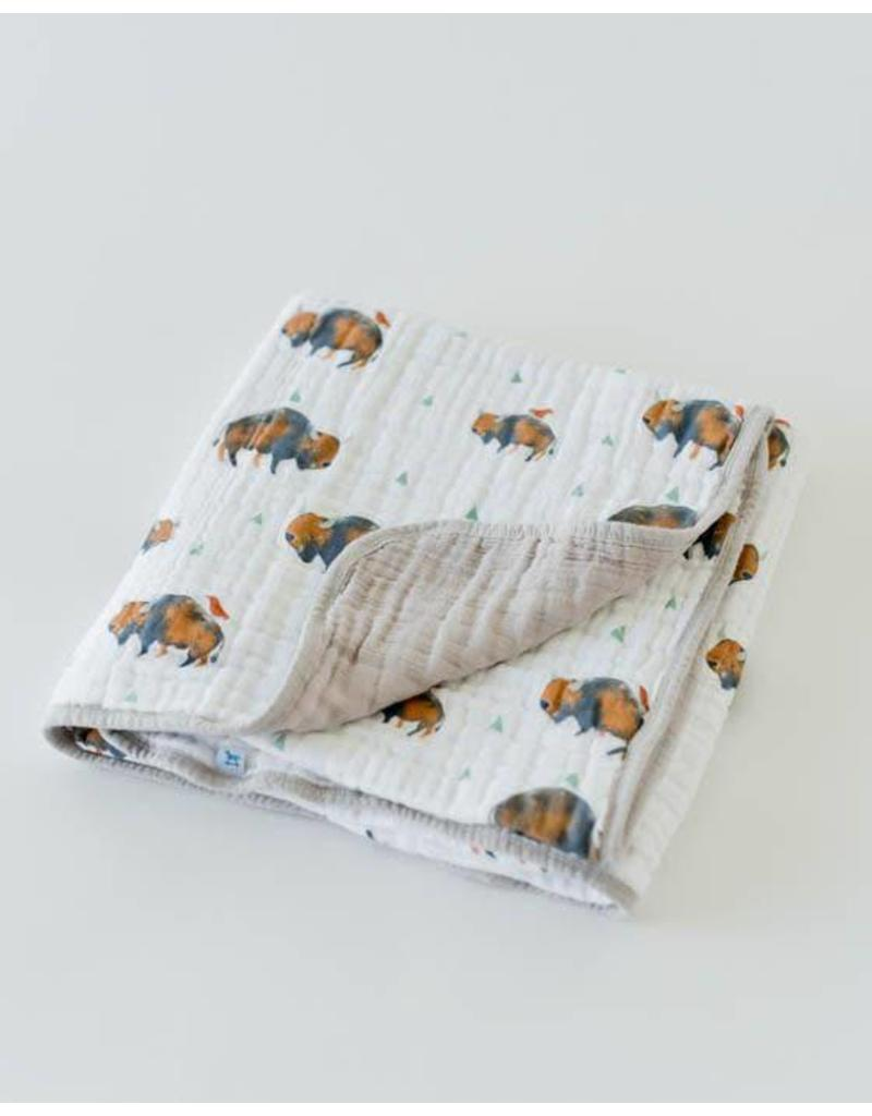LITTLE UNICORN Cotton Muslin Quilt - Bison