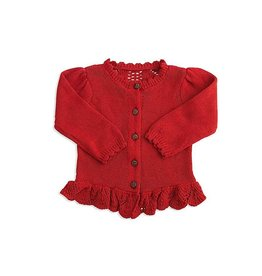 BABY Girl's Red Cardigan