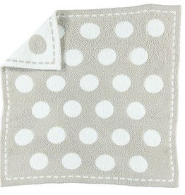 BAREFOOT DREAMS CozyChic Dream Receiving Blanket STONE-WHITE CIRCLES