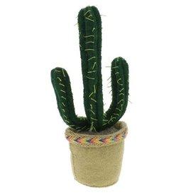 FIONA WALKER OF LONDON Bookstopper Dark Green Cactus in Pot