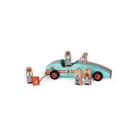 JACK RABBIT CREATIONS Retro Race Car:  Magnetic Car