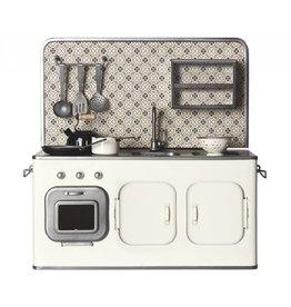 MAILEG Metal Kitchen with Utensils (White)