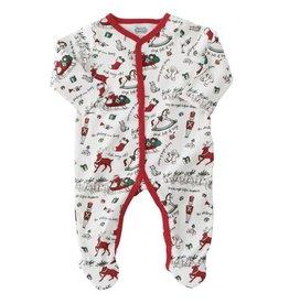 MUD PIE Very Merry Red Trim Christmas Sleeper
