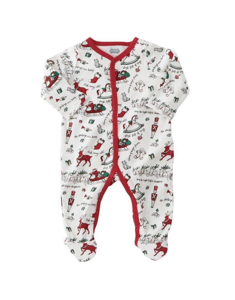mud pie very merry red trim christmas sleeper - Mud Pie Christmas Pajamas
