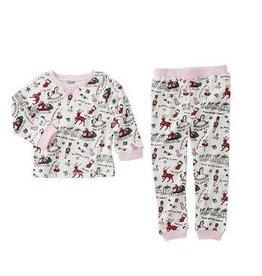 MUD PIE Very Merry Pink Trim Pajama Set