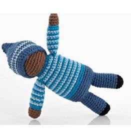 PEBBLE CHILD Birch Blue Pixie Rattle