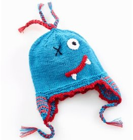 PEBBLE CHILD Scary Blue Monster Hat