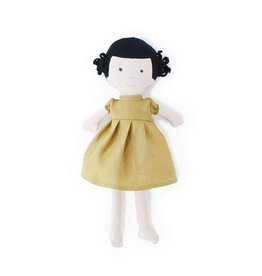 HAZEL VILLAGE Nell in Goldenrod Linen Dress
