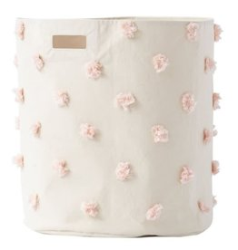 PEHR Storage Hamper - Blush Pom Pom