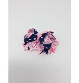 BABY Pink, Navy, & Hot Pink Hair Bow